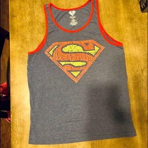 Superman Graphic Tank Top. Sz Medium